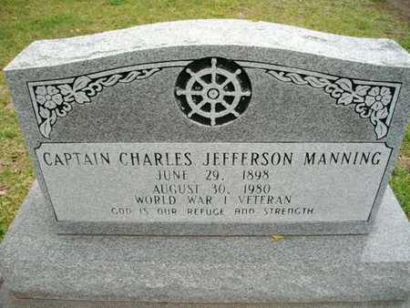 MANNING, CHARLES JEFFERSON, CAPT (VETERAN WWI) - Cameron County, Louisiana | CHARLES JEFFERSON, CAPT (VETERAN WWI) MANNING - Louisiana Gravestone Photos