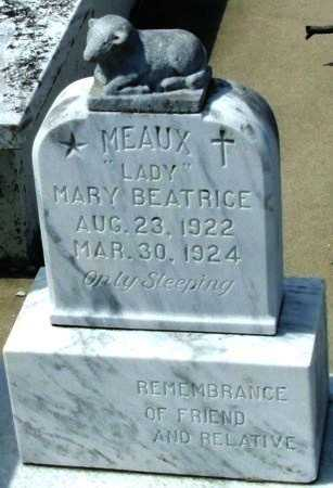 """MEAUX, MARY BEATRICE """"LADY"""" - Cameron County, Louisiana   MARY BEATRICE """"LADY"""" MEAUX - Louisiana Gravestone Photos"""