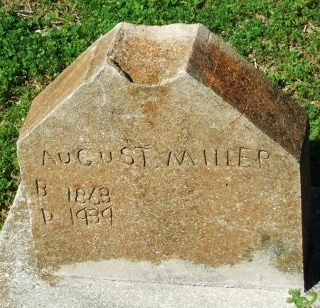 MILLER, AUGUST - Cameron County, Louisiana | AUGUST MILLER - Louisiana Gravestone Photos