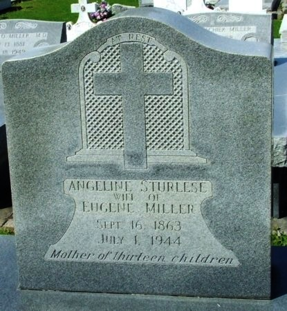 MILLER, ANGELINE - Cameron County, Louisiana | ANGELINE MILLER - Louisiana Gravestone Photos