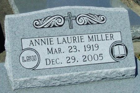 MILLER, ANNIE LAURIE - Cameron County, Louisiana | ANNIE LAURIE MILLER - Louisiana Gravestone Photos