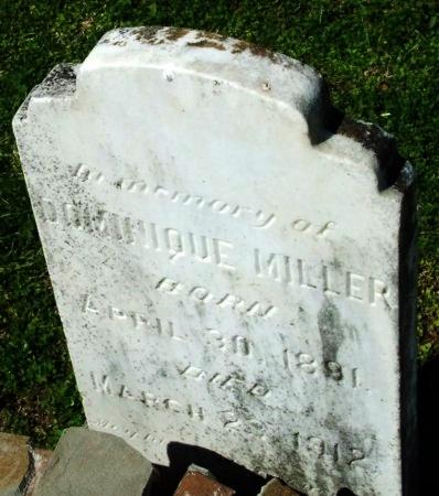 MILLER, DOMINIQUE - Cameron County, Louisiana   DOMINIQUE MILLER - Louisiana Gravestone Photos
