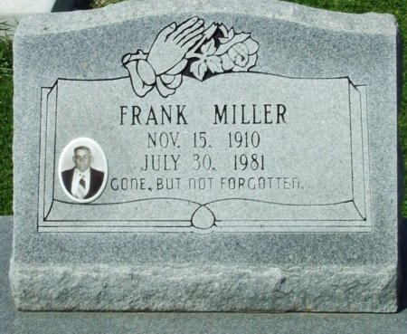 MILLER, FRANK, SR (CLOSEUP) - Cameron County, Louisiana | FRANK, SR (CLOSEUP) MILLER - Louisiana Gravestone Photos