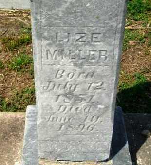 MILLER, LIZE - Cameron County, Louisiana   LIZE MILLER - Louisiana Gravestone Photos