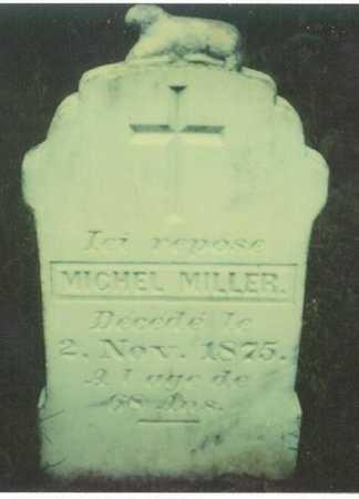 MILLER, MICHEL - Cameron County, Louisiana   MICHEL MILLER - Louisiana Gravestone Photos