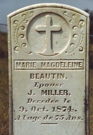 BEAUTIN MILLER, MARIE MAGDELEINE - Cameron County, Louisiana   MARIE MAGDELEINE BEAUTIN MILLER - Louisiana Gravestone Photos