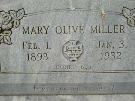 MILLER, MARY OLIVE - Cameron County, Louisiana | MARY OLIVE MILLER - Louisiana Gravestone Photos