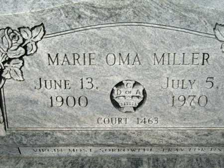 MILLER, MARIE OMA - Cameron County, Louisiana | MARIE OMA MILLER - Louisiana Gravestone Photos