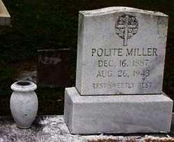 MILLER, POLITE - Cameron County, Louisiana   POLITE MILLER - Louisiana Gravestone Photos