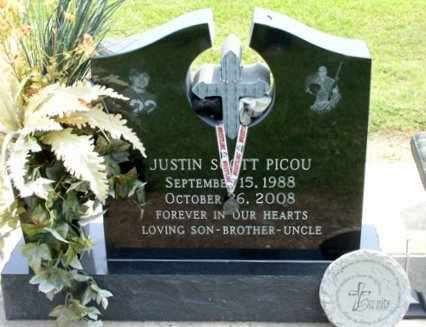 PICOU, JUSTIN SCOTT - Cameron County, Louisiana | JUSTIN SCOTT PICOU - Louisiana Gravestone Photos
