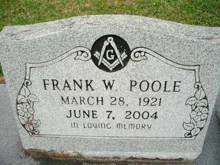 POOLE, FRANK W - Cameron County, Louisiana   FRANK W POOLE - Louisiana Gravestone Photos