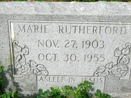 RUTHERFORD, MARIE - Cameron County, Louisiana | MARIE RUTHERFORD - Louisiana Gravestone Photos