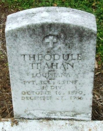 TRAHAN, THEODULE  (VETERAN WWI) - Cameron County, Louisiana | THEODULE  (VETERAN WWI) TRAHAN - Louisiana Gravestone Photos