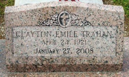 TRAHAN, CLAYTON EMILE - Cameron County, Louisiana | CLAYTON EMILE TRAHAN - Louisiana Gravestone Photos