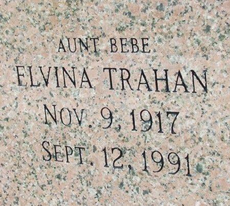 "TRAHAN, ELVINA  ""AUNT BEBE"" - Cameron County, Louisiana | ELVINA  ""AUNT BEBE"" TRAHAN - Louisiana Gravestone Photos"