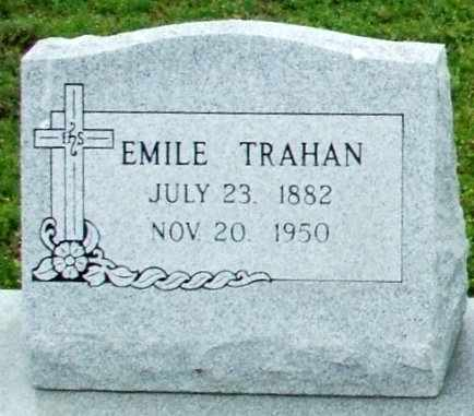 TRAHAN, EMILE (CLOSEUP) - Cameron County, Louisiana   EMILE (CLOSEUP) TRAHAN - Louisiana Gravestone Photos