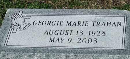 TRAHAN, GEORGIE MARIE - Cameron County, Louisiana   GEORGIE MARIE TRAHAN - Louisiana Gravestone Photos