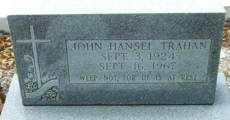 TRAHAN, JOHN HANSEL - Cameron County, Louisiana | JOHN HANSEL TRAHAN - Louisiana Gravestone Photos