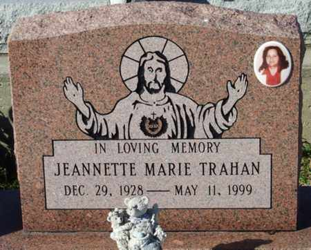 TRAHAN, JEANNETTE MARIE - Cameron County, Louisiana | JEANNETTE MARIE TRAHAN - Louisiana Gravestone Photos