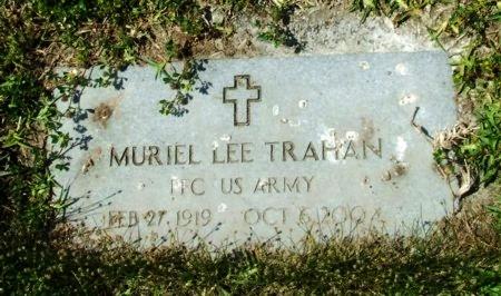 TRAHAN, MURIEL LEE (VETERAN) - Cameron County, Louisiana   MURIEL LEE (VETERAN) TRAHAN - Louisiana Gravestone Photos