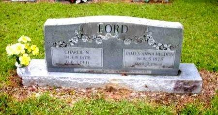 HIGDON FORD, JAMES ANNA - Catahoula County, Louisiana | JAMES ANNA HIGDON FORD - Louisiana Gravestone Photos