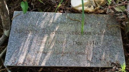 GALLENDER, JOSEPHINE REBECCA - Catahoula County, Louisiana | JOSEPHINE REBECCA GALLENDER - Louisiana Gravestone Photos
