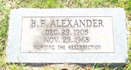 ALEXANDER, B F - Claiborne County, Louisiana | B F ALEXANDER - Louisiana Gravestone Photos