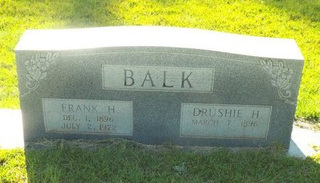 BALK, FRANK H - Claiborne County, Louisiana | FRANK H BALK - Louisiana Gravestone Photos