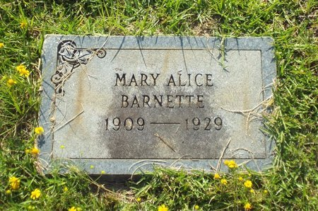 BARNETTE, MARY ALICCE - Claiborne County, Louisiana | MARY ALICCE BARNETTE - Louisiana Gravestone Photos