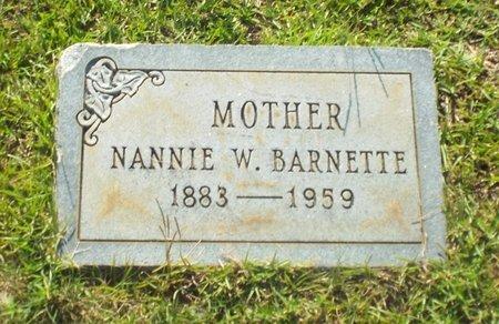 BARNETTE, NANNIE W - Claiborne County, Louisiana | NANNIE W BARNETTE - Louisiana Gravestone Photos