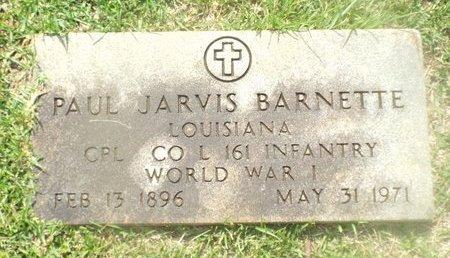 BARNETTE, PAUL JARVIS (VETERAN WWI) - Claiborne County, Louisiana | PAUL JARVIS (VETERAN WWI) BARNETTE - Louisiana Gravestone Photos