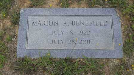 BENEFIELD, MARION K - Claiborne County, Louisiana | MARION K BENEFIELD - Louisiana Gravestone Photos