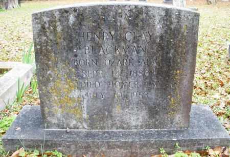 "BLACKMAN, HENRY CLAY ""HAL"" - Claiborne County, Louisiana   HENRY CLAY ""HAL"" BLACKMAN - Louisiana Gravestone Photos"