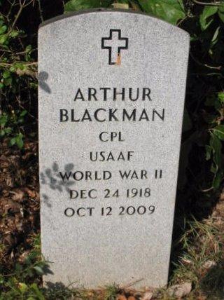 BLACKMAN, ARTHUR  (VETERAN WWII) - Claiborne County, Louisiana   ARTHUR  (VETERAN WWII) BLACKMAN - Louisiana Gravestone Photos