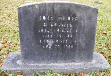 WILDER BLACKMAN, ROSA - Claiborne County, Louisiana | ROSA WILDER BLACKMAN - Louisiana Gravestone Photos