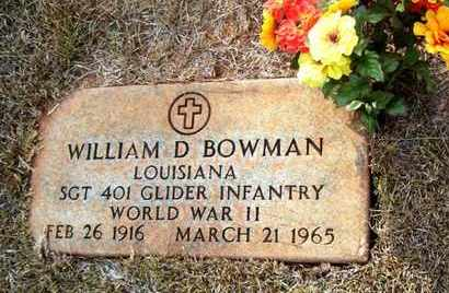 BOWMAN, WILLIAM D (VETERAN WWII) - Claiborne County, Louisiana   WILLIAM D (VETERAN WWII) BOWMAN - Louisiana Gravestone Photos