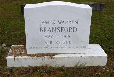 BRANSFORD, JAMES WARREN - Claiborne County, Louisiana   JAMES WARREN BRANSFORD - Louisiana Gravestone Photos