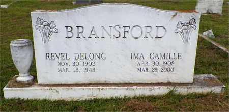 BRANSFORD, REVEL DELONG - Claiborne County, Louisiana   REVEL DELONG BRANSFORD - Louisiana Gravestone Photos