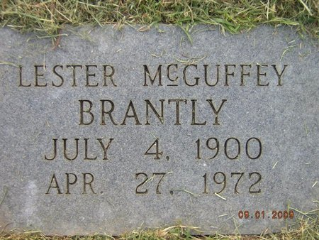 MCGUFFEY BRANTLY, LESTER - Claiborne County, Louisiana | LESTER MCGUFFEY BRANTLY - Louisiana Gravestone Photos