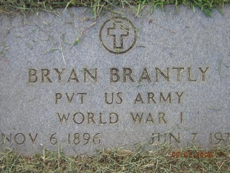 BRANTLY, BRYAN (VETERAN WWI) - Claiborne County, Louisiana | BRYAN (VETERAN WWI) BRANTLY - Louisiana Gravestone Photos