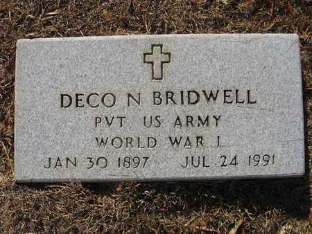 BRIDWELL, DECO N (VETERAN WWI) - Claiborne County, Louisiana   DECO N (VETERAN WWI) BRIDWELL - Louisiana Gravestone Photos