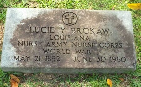 BROKAW  , LUCIE (VETERAN WWI) - Claiborne County, Louisiana | LUCIE (VETERAN WWI) BROKAW   - Louisiana Gravestone Photos