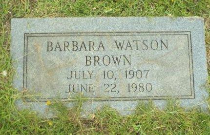 WATSON BROWN, BARBARA - Claiborne County, Louisiana | BARBARA WATSON BROWN - Louisiana Gravestone Photos