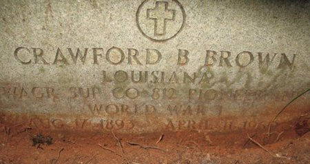 BROWN, CRAWFORD B  (VETERAN WWI) - Claiborne County, Louisiana | CRAWFORD B  (VETERAN WWI) BROWN - Louisiana Gravestone Photos