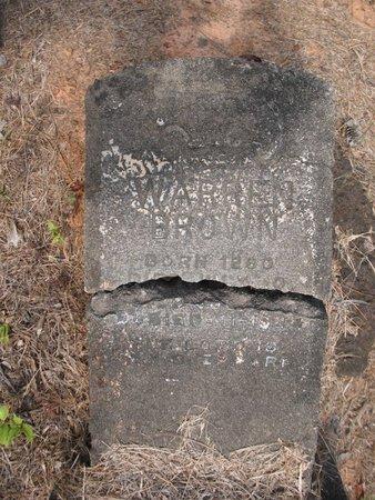 BROWN, WARREN - Claiborne County, Louisiana   WARREN BROWN - Louisiana Gravestone Photos