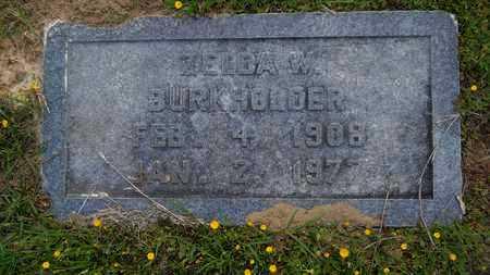 BURKHOLDER, ZELDA W - Claiborne County, Louisiana | ZELDA W BURKHOLDER - Louisiana Gravestone Photos