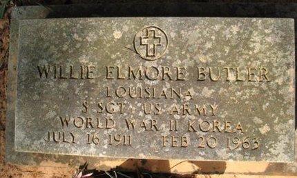 BUTLER, WILLIE ELMORE   (VETERAN 2 WARS) - Claiborne County, Louisiana | WILLIE ELMORE   (VETERAN 2 WARS) BUTLER - Louisiana Gravestone Photos