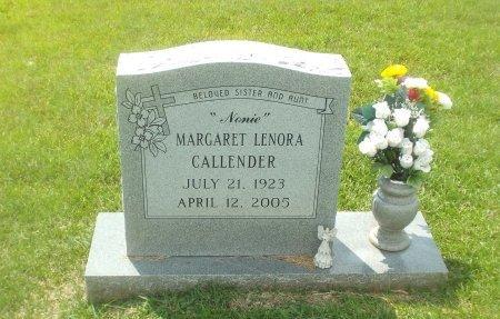 CALLENDER, MARGARET LENORA - Claiborne County, Louisiana | MARGARET LENORA CALLENDER - Louisiana Gravestone Photos