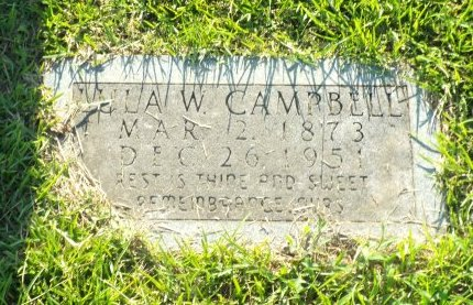 CAMPBELL, LULA - Claiborne County, Louisiana | LULA CAMPBELL - Louisiana Gravestone Photos