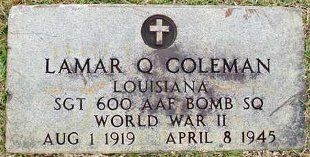 COLEMAN, LAMAR Q (VETERAN WWII, KIA) - Claiborne County, Louisiana | LAMAR Q (VETERAN WWII, KIA) COLEMAN - Louisiana Gravestone Photos